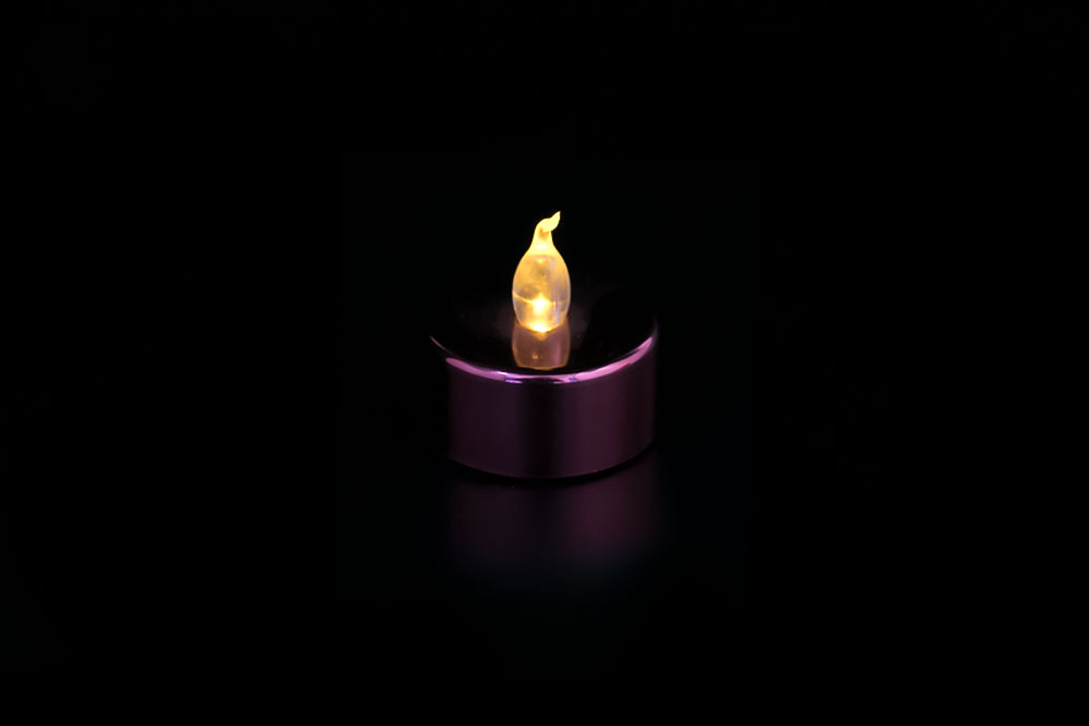 LED Electroplate Candle Light HHT-019
