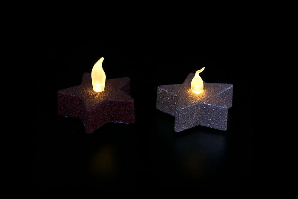 LED Powder Star Candle Light HHT-201