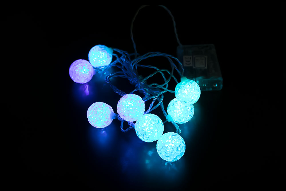 LED 4CM EVA Ball Light Chain LC-018