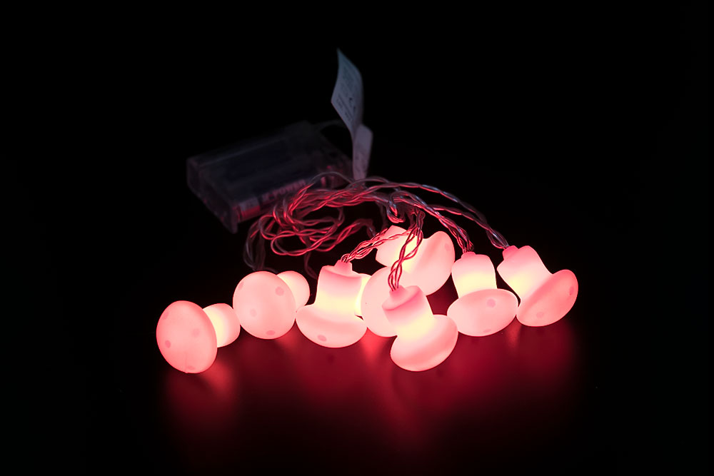 LED Small Mushroom Light Chain LC-055