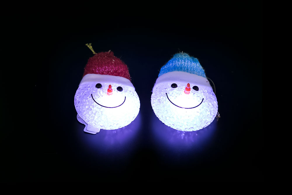 Magic EVA Snowman's head Light HHE-061